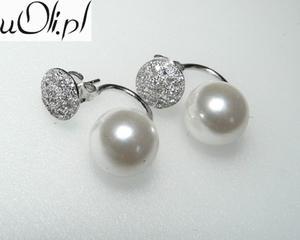 Kolczyki gwiazd kulki perła kryształki celebrytki - 2823481049