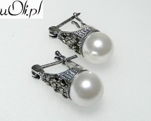 Kolczyki gwiazd kulki perła markazyty m - 2823481050