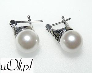 Kolczyki gwiazd kulki perła markazyty d - 2823481051