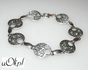 Bransoletka cyrkonia srebro kwiaty - 2823481257