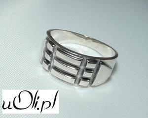 Pierścień Atlantów sygnet r. 27 srebro 925 - 2823481332