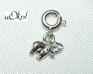Słoń zawieszka charms srebro 925 M - 2823480836