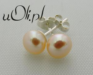 Kolczyki naturalne perły na sztyft 6 mm - 2823481070