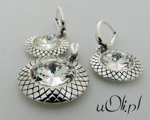 Komplet kolczyki wisior kryształ Swarovski rivoli cristal - 2823480427