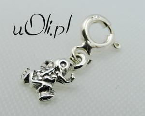 Żaba żabka zawieszka charms srebro 925 mała - 2823480840