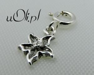 Kwiat zawieszka charms srebro 925 - 2823480841