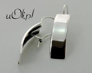 Kolczyki rynienki srebro bigiel - 2823481099