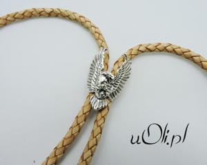 Krawat bolo motyw orła harleyowców srebro 925 nude - 2823481660