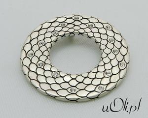 Wisiorek cyrkonia srebro łuska - 2823481538