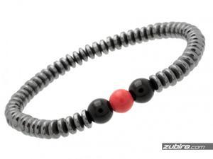 Bransoletka z hematytu z czerwonym oczkiem - 2859803088