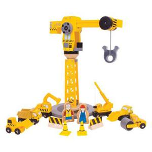 Zestaw budowlany z dźwigiem - mega dźwig - 2879240682