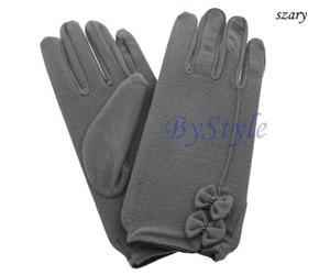 Eleganckie rękawiczki z kokardami 4 KOLORY - 2822285909