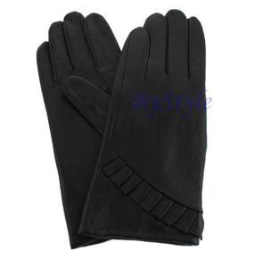 Rękawiczki damskie ze skóry - ciepłe na zimę - 2822285917