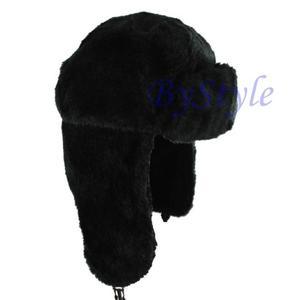 Zimowa czapka uszatka futrzana - 2822285941