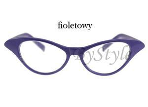 Okulary Cat Eye - fioletowe - 2822285964