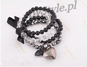 Bransoletka z perłami - kokarda - 2822285978