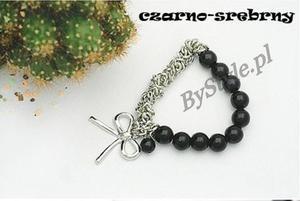 Bransoletka z perłami - kokarda - 2822285982
