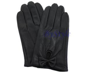 Czarne rękawiczki z kokardą - 2822285906