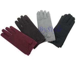 Eleganckie rękawiczki z kwiatkiem - 2822285907