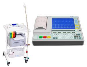 AsCARD Grey 07.305 System aparat EKG z Wi-Fi oraz wózkiem i drukarką zewnętrzną A4 - 2866113967