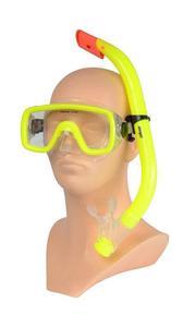 Maska+fajka Allright Maio junior żółty - Żółty