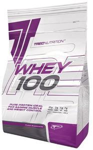 Białko Trec WHEY 100 900g o smaku czekoladowym - Czekoladowy - 2654405196