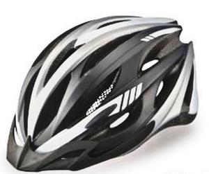 Kask rowerowy OZONE MB-02 srebrno-czarny mat  - Srebrno-czarny