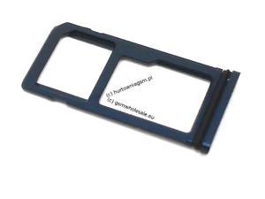 Nokia 8 TA-1004 - Oryginalna szufladka karty SIM i MicroSD niebieska matowa - 2865386982