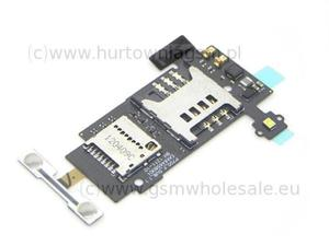 LG P700 Optimus L7 - Oryginalne gniazdo (czytnik) karty SIM i karty pamięci SD z taśmą - 2822146763