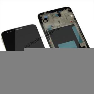 LG G2 D802 - Oryginalny front z wyświetlaczem i ekranem dotykowym czarny - 2822149690