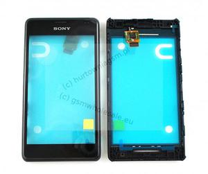 Sony Xperia E1 D2005 - Oryginalny front z ekranem dotykowym czarny - 2822150642