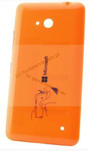 Microsoft Lumia 640 - Oryginalna klapka baterii pomarańczowa - 2822151770