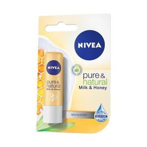 NIVEA Pure & Natural Milk & Honey Pomadka ochronna 4,8g - 2842854929