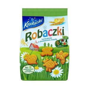 Krakuski Robaczki Herbatniki z dodatkiem masła 100g - 2827388762