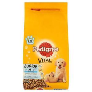 Pedigree Vital Protection Junior z kurczakiem i ryżem Średnie rasy Karma pełnoporcjowa 2kg - 2842409636