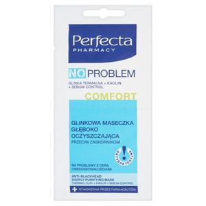 Perfecta Pharmacy No Problem Comfort Glinkowa maseczka głęboko oczyszczająca 2 x 5ml - 2837409836