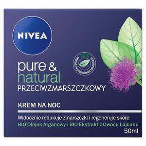 NIVEA Pure & Natural Przeciwzmarszczkowy krem na noc 50ml - 2837410280