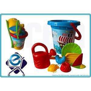 KPL MORSKI do piasku IML 8 el dla dzieci PIRAT +2L - 2835654964