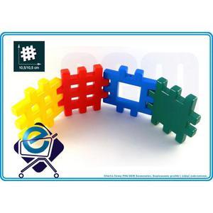 KLOCKI WAFLE WAFLOWE PRZESTRZENNE 1KG 56 szt +2L Klocki dla dzieci, konstrukcyjne, marioinex - 2828972143