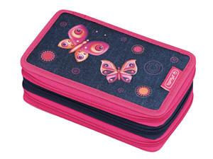 Piórnik potrójny z wyposa Butterfly Dreams HERLITZ - Butterfly Dreams - 2850917757