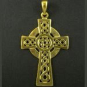 Krzyż Celtycki 2 - pozłacany - 2827699155