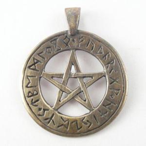 Pentagram z runami - br - 2827699331