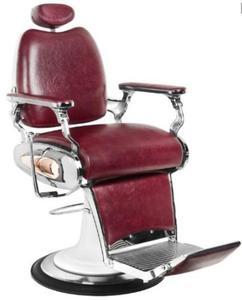 Fotel Barberski Moto Style Bordowy - 2856336626