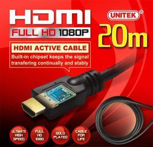 Unitek Aktywny kabel HDMI 1.4 PREMIUM 20m - 2874991273