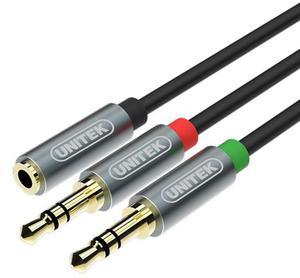Unitek Kabel 2*Mini Jack - Mini Jack GN 0,2m - 2874991540