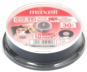 Maxell Płyta DVD+RW 1,4GB Cake 10 szt. - 2874991672