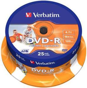 Verbatim Płyta DVD-R Printable Cake 25 szt. - 2874991686