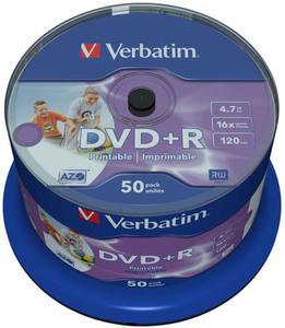 Verbatim Płyta DVD+R Printable Cake 50 szt. - 2874991688