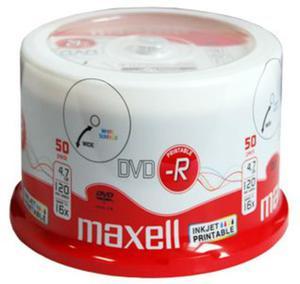 Maxell Płyta DVD-R Printable Cake 50 szt. - 2874991693