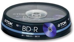 TDK Płyta Blu-ray BD-R 25GB Cake 10 szt. - 2874991697